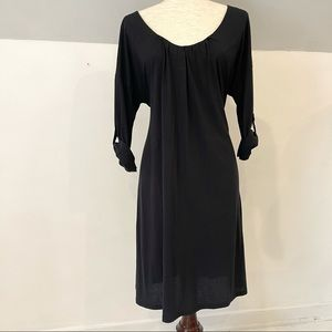 Garnet Hill black jersey dress size S
